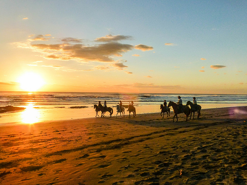 Horseback riding on the beach. Photo credit: froderamone.